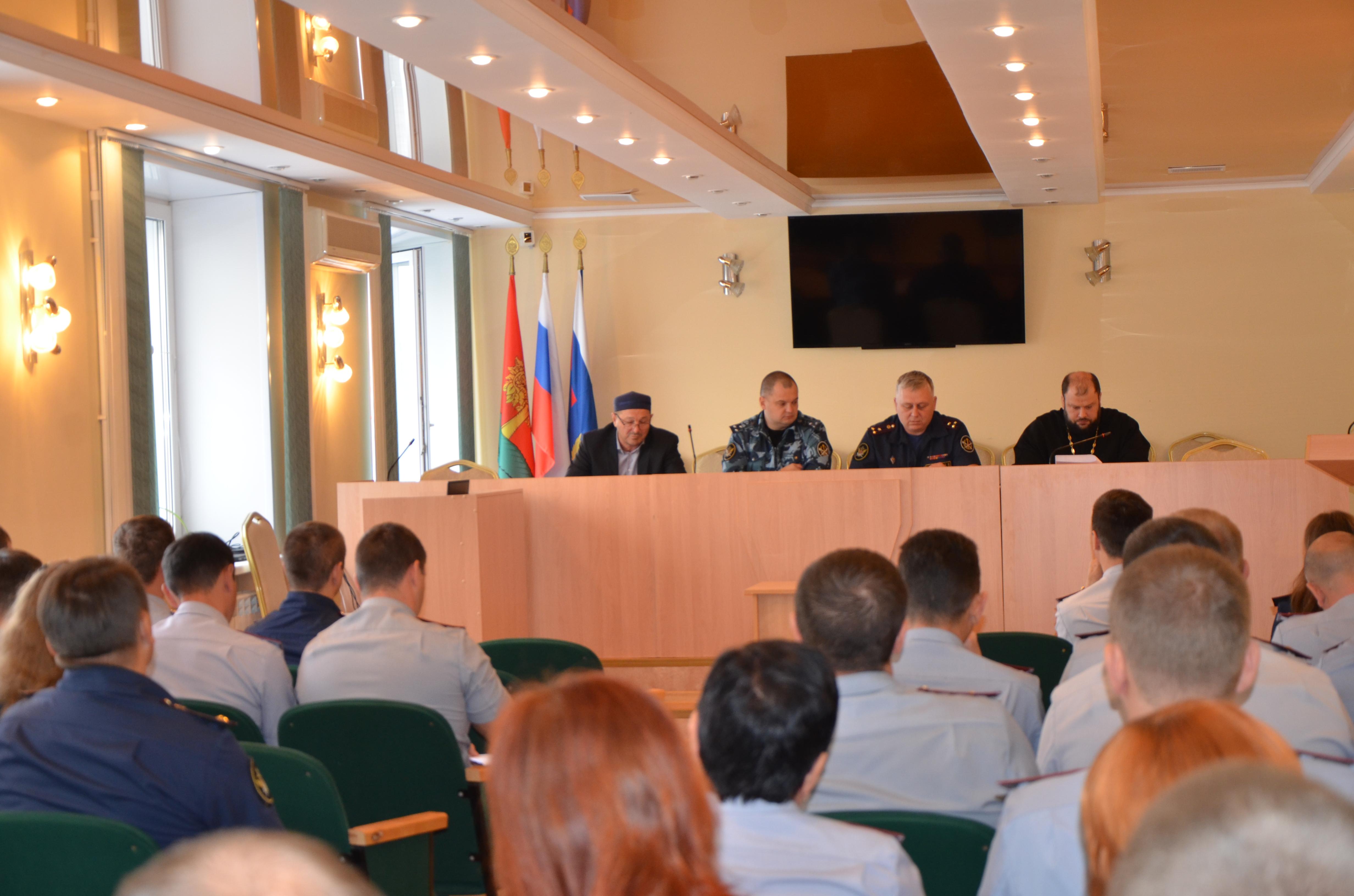 В УФСИН России по Липецкой области состоялись учебно-методические сборы с сотрудниками воспитательной и оперативной служб исправительных учреждений области