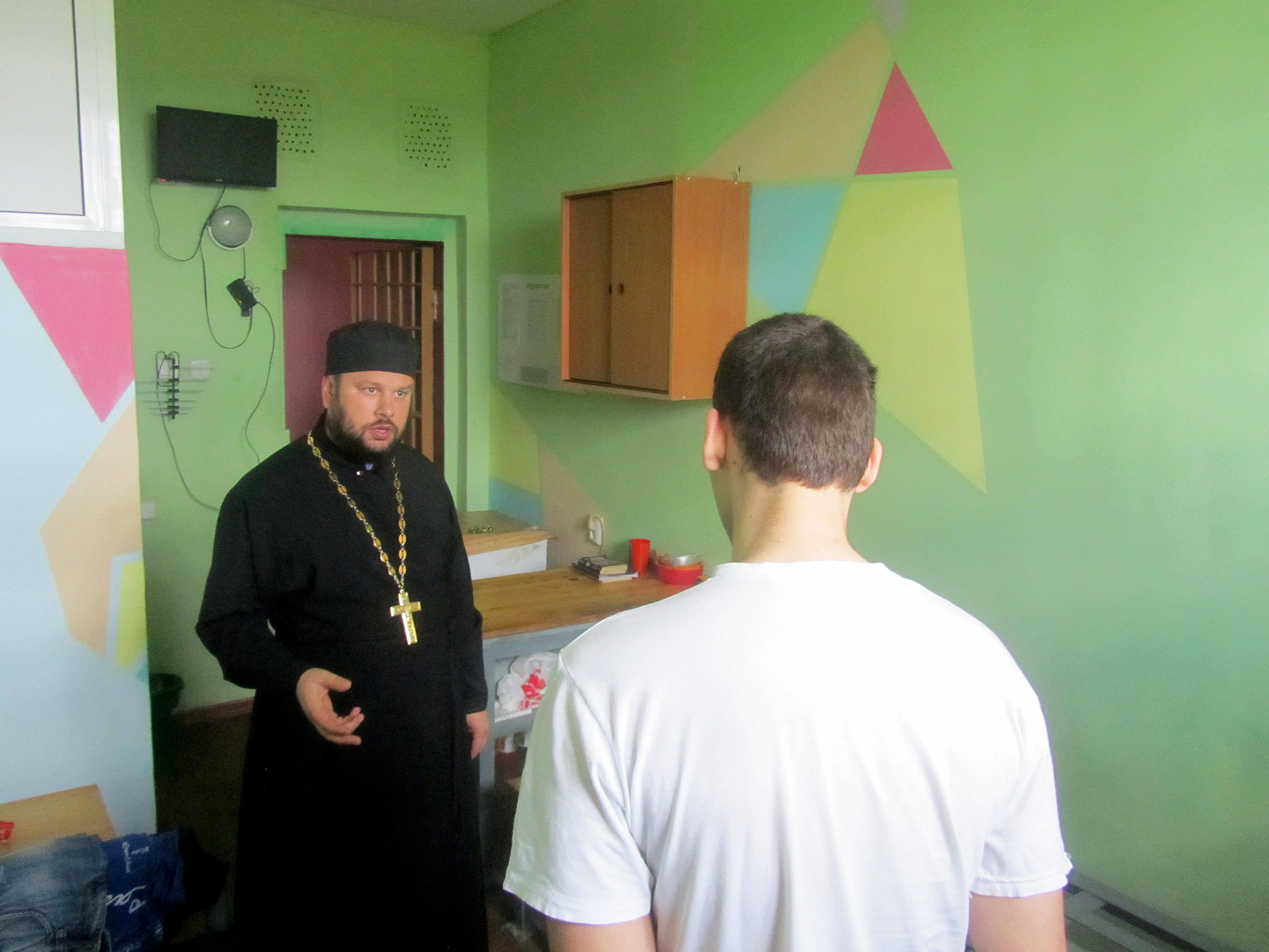 Священнослужитель провел духовную беседу с несовершеннолетними, содержащимися в СИЗО-1 УФСИН России по Липецкой области